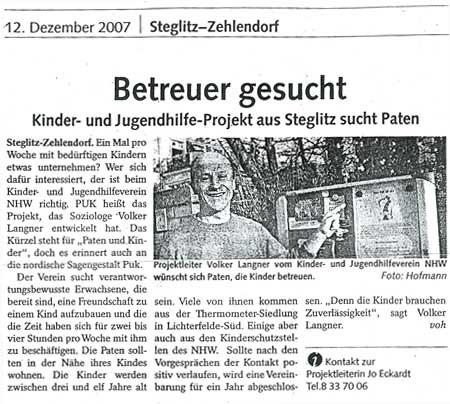 Presseartikel aus dem Berliner Abendblatt